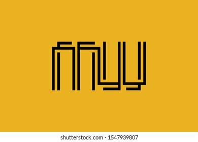 Initial MW WM modern monogram and elegant logo design, Professional Letters Vector Icon Logo on background.
