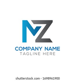 Initial MZ letter Logo Design vector Template. Abstract Letter MZ logo Design