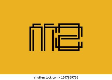 Initial MZ ZM modern monogram and elegant logo design, Professional Letters Vector Icon Logo on background.