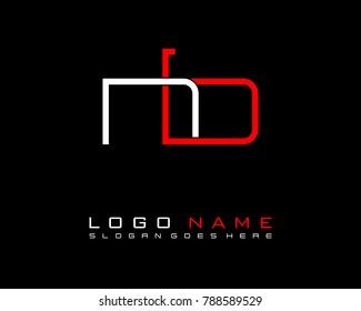 Initial N & B minimalist logo template vector