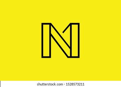 Initial N NN NM MN modern monogram and elegant logo design, Professional Letters Vector Icon Logo on black background.