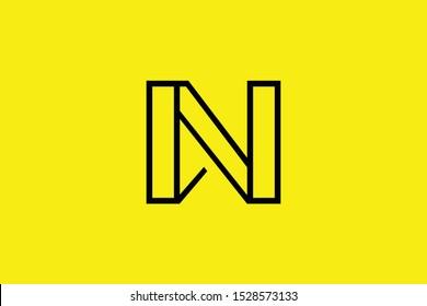 Initial N NN NW WN modern monogram and elegant logo design, Professional Letters Vector Icon Logo on black background.