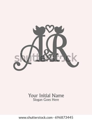initial name r logo template vector stock vector royalty free