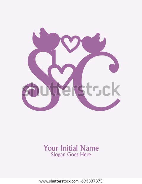 Initial Name S C Logo Template Stock Vector Royalty Free 693337375
