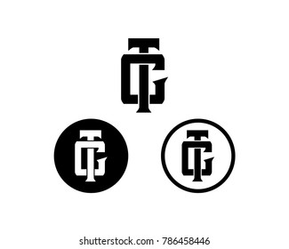 Initial Name TC or CT Symbol Set Logo Monogram Template