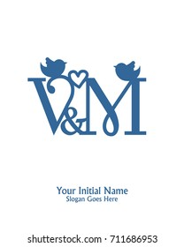 initial name m logo template vector stock vector royalty free