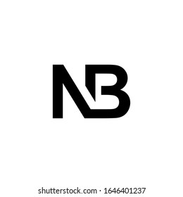 Initial NB BN Letter Logo design vector. Illustration of NB BN Logotype