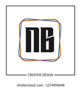 Initial NB Letter Logo Template Design