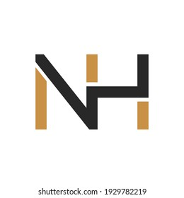Initial nh letter logo vector template design. Linked letter hn logo design. Simple nh vector template.