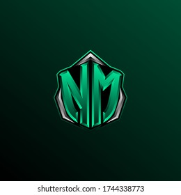 Initial NM logo design, Initial NM logo design with Circle style, Logo for game, esport, community or business.