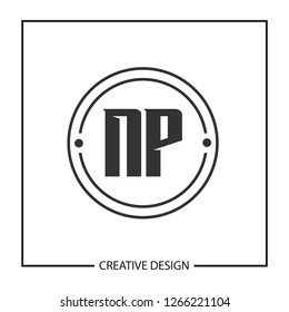Initial NP Letter Logo Template Design