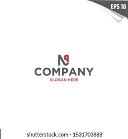 Initial NP Logo monogram design template. Simple elegant shape style modern logo.