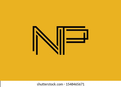 Initial NP PN modern monogram and elegant logo design, Professional Letters Vector Icon Logo on background.