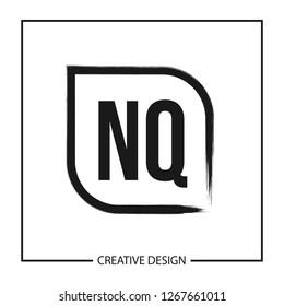 Initial NQ Letter Logo Template Design