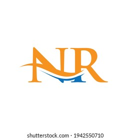 Initial NR letter business logo design vector template with minimal and modern trendy. NR logo design with creative and modern trendy