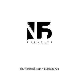 Initial NS Letter Corporate Shape Linked Logo