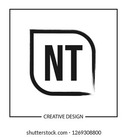 Initial NT Letter Logo Template Design