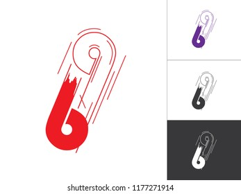 Initial Number 69 Logotype Line Concept in Vector. Modern Number Logo Design Template in Red and Violet Color. Number 69 Inside This Designs Elements with Black and White Version.