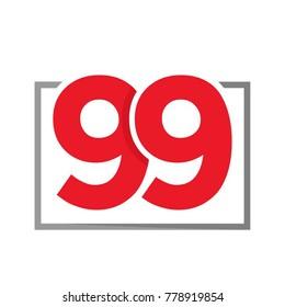 Initial Number 99 Design Logo Template