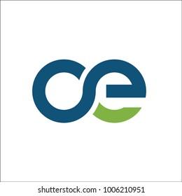 initial OE logo blue