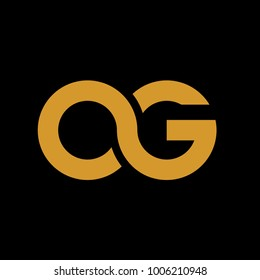 initial OG logo vector abstract