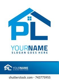 initial p v real estate logo stock vector royalty free 743776288