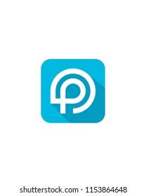 Initial P logo template