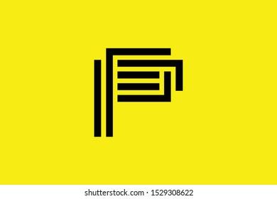 Initial P PP PF FP modern monogram and elegant logo design, Professional Letters Vector Icon Logo on black background.