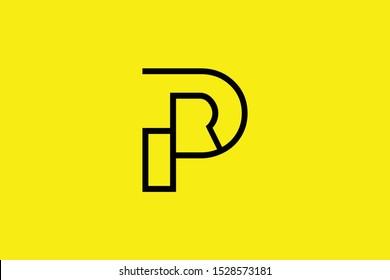 Initial P PP PR RP modern monogram and elegant logo design, Professional Letters Vector Icon Logo on black background.