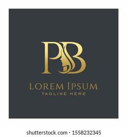 Initial PB Beauty Face Letter Logo Design Vector