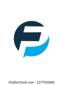 Initial pf or fp logo template