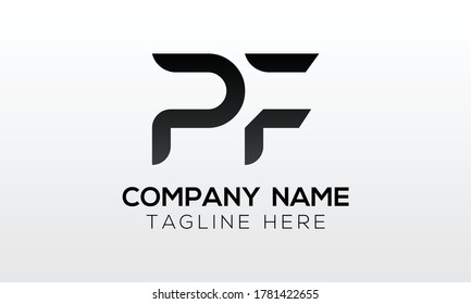 Initial PF Letter Logo With Creative Modern Business Typography Vector Template. Creative Letter PF Logo Vector.