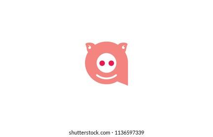 initial a pig logo icon logo
