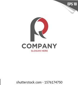 Initial PQ Logo monogram design template. Simple elegant shape style modern logo. P, Q, R, PQ, PR, QP modern logo initial.