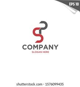Initial PS Logo monogram design template. Simple elegant shape style modern logo. P, S, PS, SP modern logo initial.