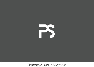 Initial PS SP Letter Logo Icon Design Template. Graphic Sign and Alphabet P S Letters Symbol with Text.