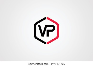 Initial PV VP Letter Logo Icon Design Template. Graphic Sign and Alphabet P V Letters Symbol with Text.