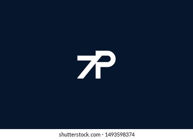 Initial PZ ZP Letter Logo Icon Design Template. Graphic Symbol and Alphabet P Z Letters Symbol with Text.