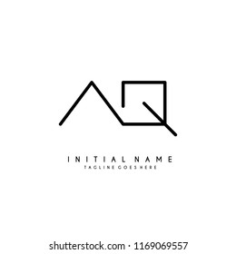 Initial A Q minimalist modern logo identity vector