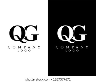 initial qg/gq modern logo design with Black and white background. vector logo for business and company identity