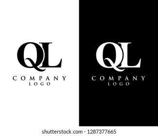 initial ql/lq modern logo design with Black and white background. vector logo for business and company identity