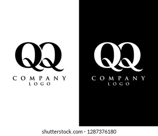 initial qq modern logo design with Black and white background. vector logo for business and company identity