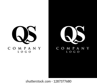 initial qs/sq modern logo design with Black and white background. vector logo for business and company identity