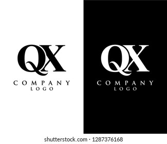 initial qx/xq modern logo design with Black and white background. vector logo for business and company identity