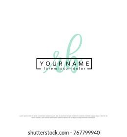 Initial R & B elegant logo template vector