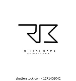 Initial R B minimalist modern logo identity vector