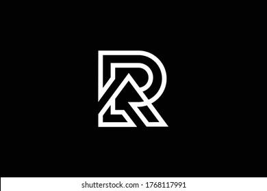 Initial R RR RA AR modern monogram and elegant logo design, Professional Letters Vector Icon Logo on black background.