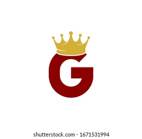 Initial Red Letter Logo with Gold Crown G