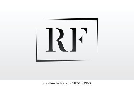 Initial rf letter logo with creative modern business typography vector template. Creative letter rf logo design.