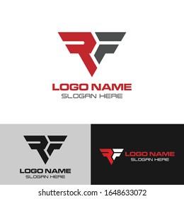 Initial RF logo design template vector, Monogram RF, Initial letter RF